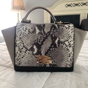 Kate Spade Black and Gray Snakeskin Print Handbag